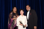 "Software House International (SHI), the Asian-American owned global provider for computer IT products and services with over $2 billion in net sales and transactions, wins ""Supplier of the Year Class 4 Award"" from New York & New Jersey Minority Supplier Development Council. (L-R) Lynda Ireland, President, New York & New Jersey Minority Supplier Development Council; Thai Lee, CEO of Software House International (SHI) and the first Korean-American woman to enter Harvard Business School; and Hilton O. Smith, Corporate Vice President, Turner Construction Company and Gala Corporate Co-Chair"