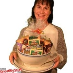 Giant cup & saucer gift basket from GreatBigStuff.com