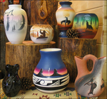 Beautiful authentic Native American hand-painted pottery from Cedar Mesa Products