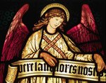Angel detail from the 2006 William Morris Stained Glass Wall Calendar