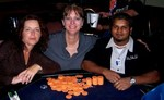Michele Burghardt - The Poker Pub STL Tournament of Champions (center) Kristan Delgado, President - The Poker Pub STL John Striegle