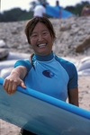 Happy graduate of Las Olas Surf Safari for Women