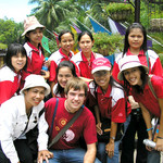 Daniel Hinkley with Thai teachers in Lop Buri