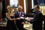 Paris Hilton, Lucien Leland of Parlux and Oscar Rodriguez of Abazias.com
