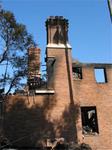 Brick Chimneys Survive the Blaze