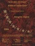 American Dream Town Award 2006 - Abingdon, VA