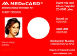 MEDeCARD Business Card CD