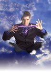 Mentalist mindreader Ehud Segev the Mentalizer in the sky