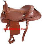 TAN WESTERN PLEASURE TRAIL HORSE SADDLE TACK