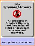 No Spyware. No Adware. No Malware.