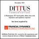 Dittus Communications Advised by Merger and Acquisition Specialists AdMedia Partners in Purchase by Financial Dynamics