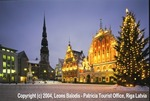 """Riga Old Town Square at Christmas"""