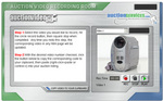 Screen capture showing the interface for AuctionServices new video service.