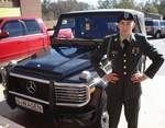 On December 9th 2005, PV2 Marco Benz graduated from Delta Company 2nd Battalion 19th Infantry Regiment, and photographed with a Mercedes Benz G-class Cabrio