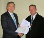 Greg Knight MP and Tom Connelly