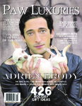 King Kong star Adrien Brody is the Winter Paw Luxuries Cover Animal Lover