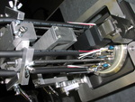 Polishing head for SMPTE optical fibre cables