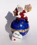 Santa on Globe