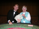 Patricia M. Nicholas (Right) First Winner of the Ute Mountain Casino WSOBJ Tournament and Pat Talcott (Left) Event MC