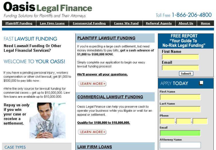 Lawsuit Financing - Lawsuit Loan Home Page