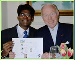 Dr. Vj Mariaraj along with Mind Map Inventor Mr. Tony Buzan