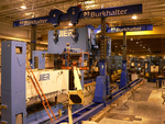 JIER mechanical press about to be crowned at Dana Corporation in Hopkinsville, Kentucky USA