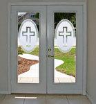 Faith Centerpiece on French Doors