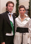 Italian Royal Couple-Prince Emmanuel Philibert and Princess Clotilde of Savoy, the Prince and Princess of Venice at BALLO DI SAVOIA in New York City.