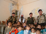 Coalition Forces at Orphanage in Basra.