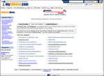 Screenshot of supplier categories