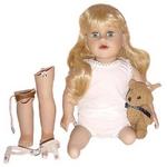 Doll with prosthetics