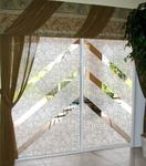 Create a decorative focus on your sliding glass doors.
