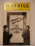 "Matthew Broderick autographed ""Producers"" Playbill"