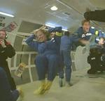 File Photo: Vanna Bonta jubilant in zero gravity