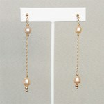 Freshwater Pearl Long Drop Earrings
