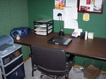 Desk/business zone after organizing (horizontal close up)