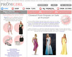 PromGirl Offers Closeout Prom Dresses