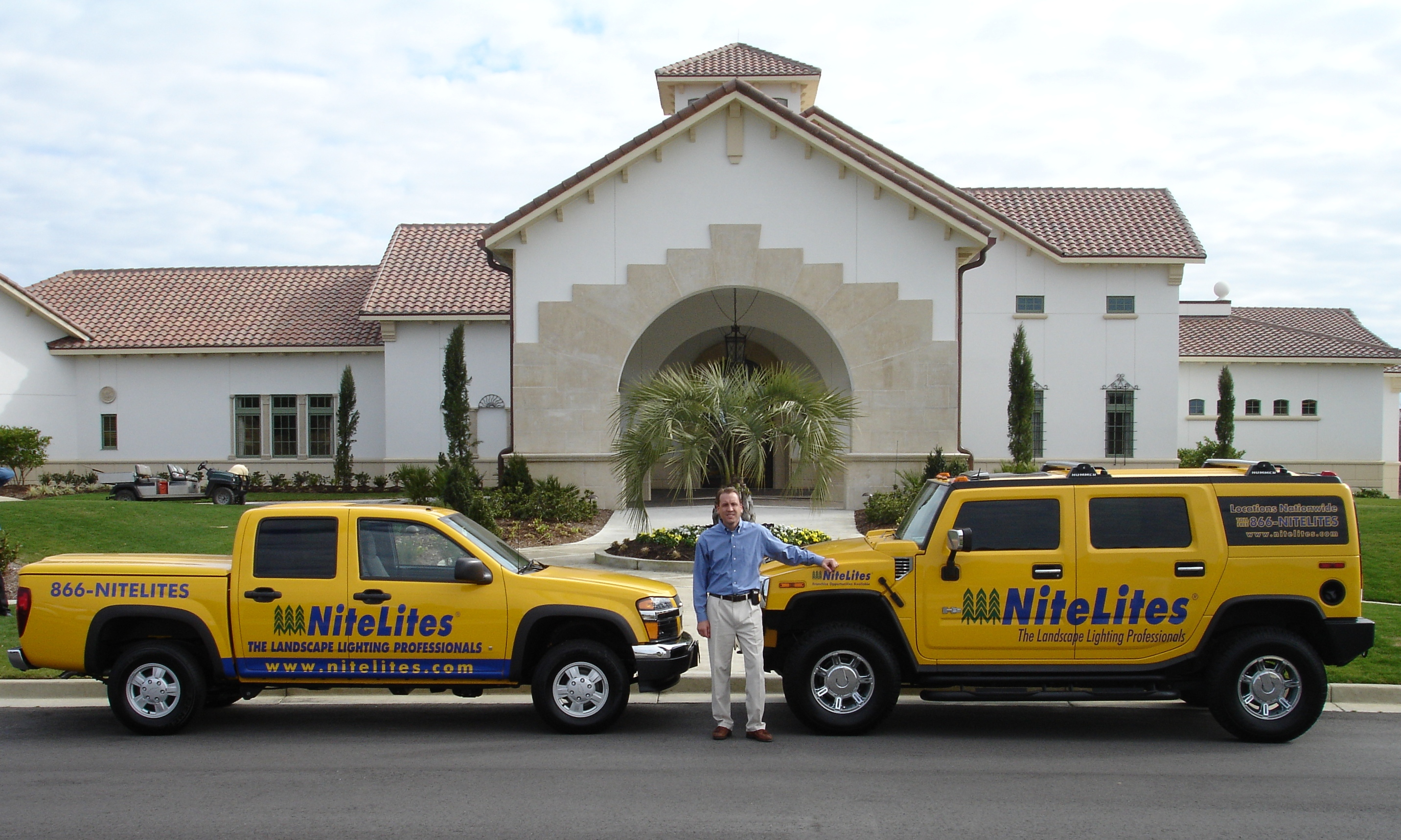 Scott Biason With NiteLites Hummer And Truck