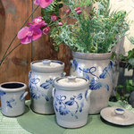 Rowe Pottery's 2006 Spring Collection of salt-glazed pottery canisters