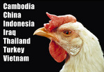 Countries with Confirmed Human Cases of Avian Influenza A/(H5N1) Reported to WHO