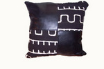 Mudcloth and Leather Pillow