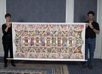 Cross-Stitch Replica of Sistine Chapel Ceiling