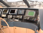 Graphic terminal controls ship monitor and alarm system.