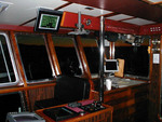 QTERM-G75 graphic terminal on a large commercial vessel