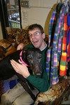 Skip and Miz Mandy, the Pet Therapy Greyhound
