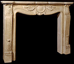 Fireplace Mantels - Marie Antoinette Fireplace Mantel