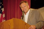 Jim Bouton at one of his many speaking engagements