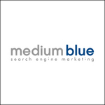 Medium Blue Search Engine Marketing Logo