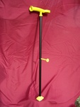 Liberty Cane has an assist handle, which is housed inside the cane handle, is removable and aids one in getting back up from the ground.