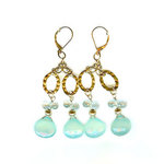 Earrings designed for Sharon Stone's birthday!